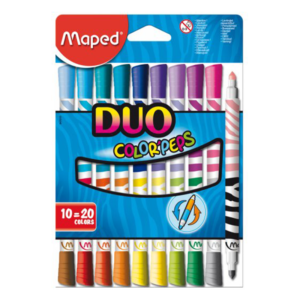 Maped Features Smart Zoom Smart 2 in 1 use = twice the amount of colours! Practical two times less space in pencil-case! Reliability Zoom Reliability Blocked tip Ultra washable Zoom Ultra washable Ultra washable ink, designed to meet the needs of parents and children